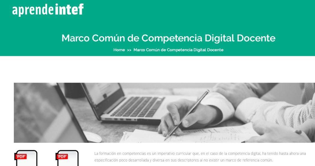 Competencia digital docente. Marco Común