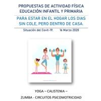 Actividades físicas infantil y primaria para trabajar durante el confinamiento